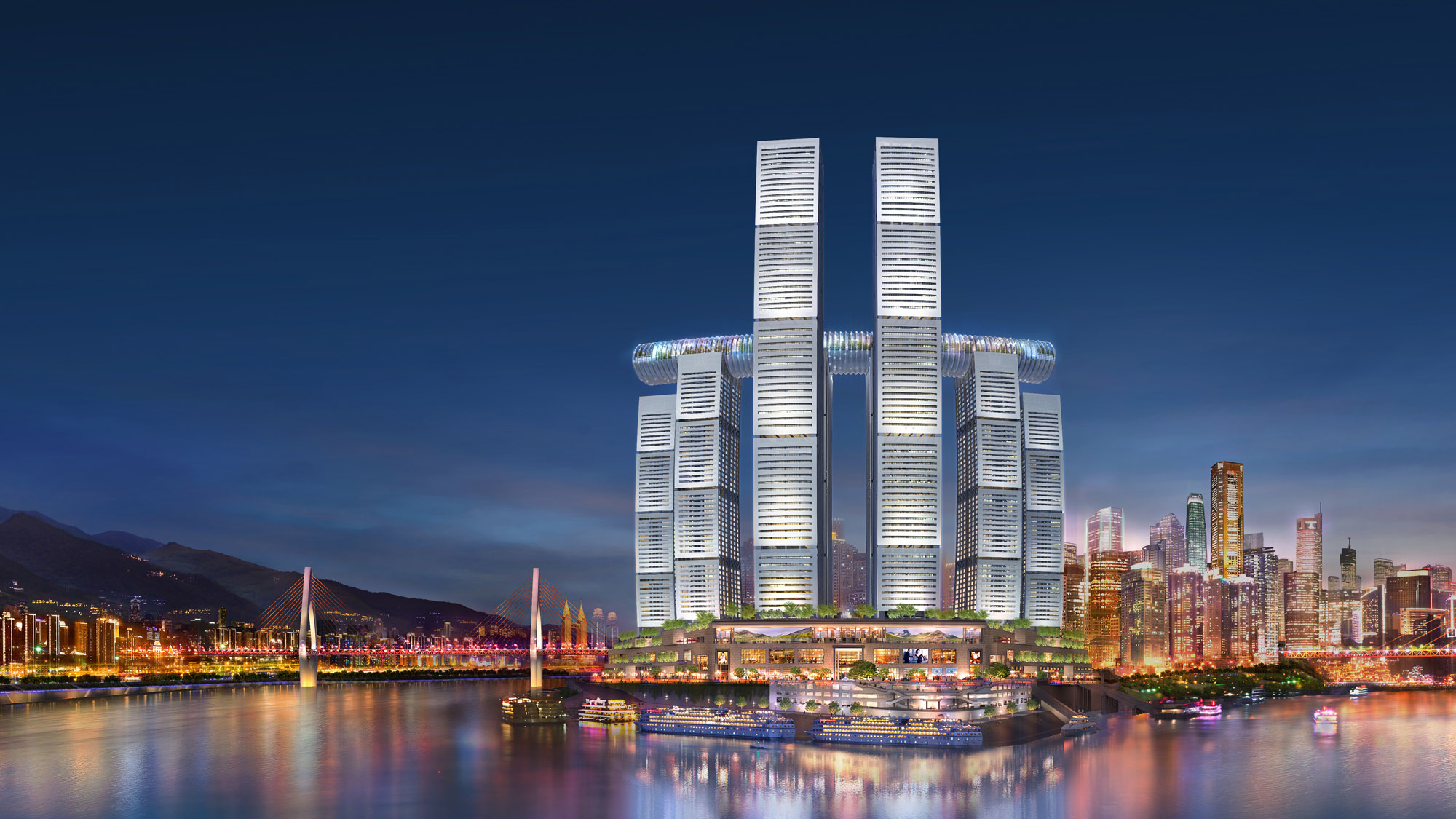 Raffles City Chongqing 2 2000x1125c Safdie Architects  CapitaLand China Investment Co Ltd1