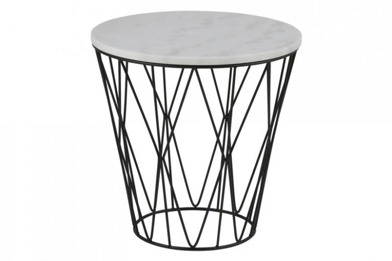 dudley_round_end_table_guangxi_white_marbl_top_metal_black_base_50x50xh50